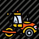 asphalt, construction, machine, roller, vehicle