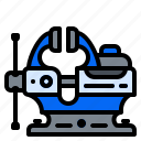 bench, clamp, tool, vise icon