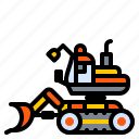 bulldozer, construction, machine, tracked, vehicle