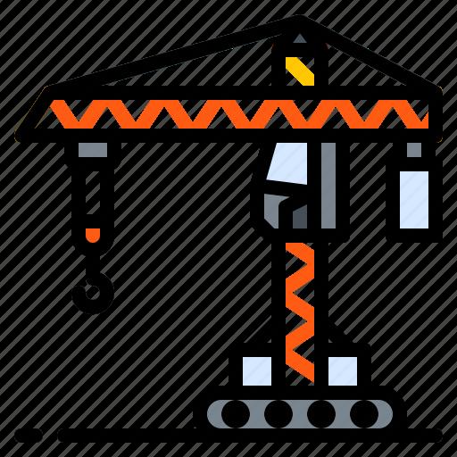 Construction, crane, derrick, lift, machine icon - Download on Iconfinder