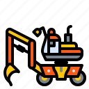 bagger, construction, excavator, machine, vehicle