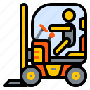 construction, forklift, lift, machine, truck, vehicle
