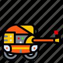 asphalt, construction, hand, machine, roller icon