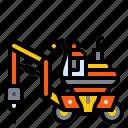 construction, demolition, destruction, machine, vehicle icon