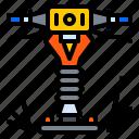 construction, machine, rammer, tool, vibratory