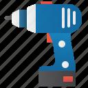 battery, cordless, drill, handyman, screwdriver icon