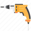 craftsmanship, drill, electric, equipment, workshop icon