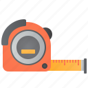 accuracy, distance, measurement, meter, tape icon