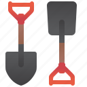 digger, equipment, farm, garden, shovel icon