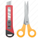cutter, design, equipment, scissors, stationary icon