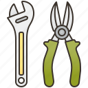 adjustable, mechanical, pliers, tools, wrench