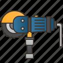 angle, circular, construction, cutting, grinder icon