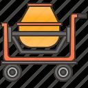 builder, concrete, construction, machine, mixer icon