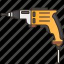 craftsmanship, drill, electric, equipment, workshop