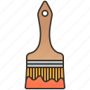 brush, craft, paint, renovation, tool