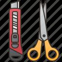 cutter, design, equipment, scissors, stationary