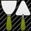 builder, cement, plaster, repair, trowel