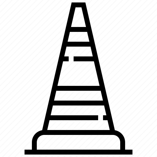 cone, construction, tool, traffic icon