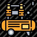 air, compressor, construction, pump, tool icon
