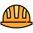 construction, hat, helmet, protect, safety, tool icon