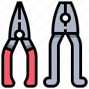 construction, cut, plier, tool icon
