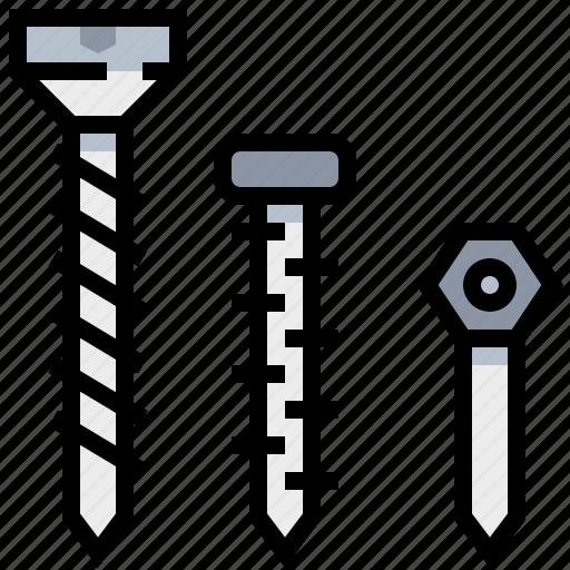 construction, equipment, screw, tool icon