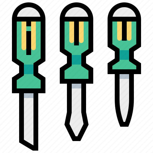 Construction, equipment, screwdriver, tool icon - Download on Iconfinder