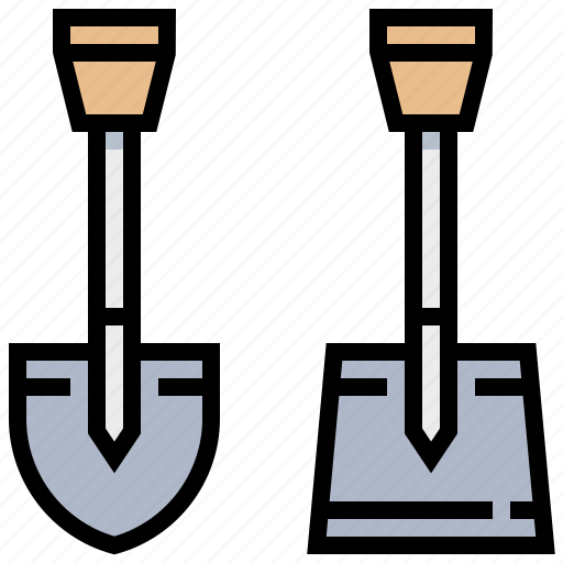 construction, equipment, shovel, tool icon