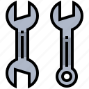 construction, equipment, tool, wrench icon