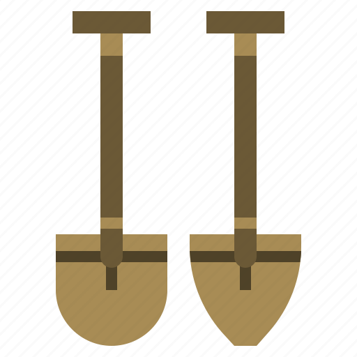 construction, gardening, holidays, home, improvement, shovel, travel icon