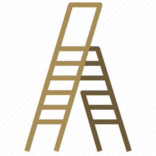 carpentry, construction, ladder, ladders, stairs, steps, vertical icon