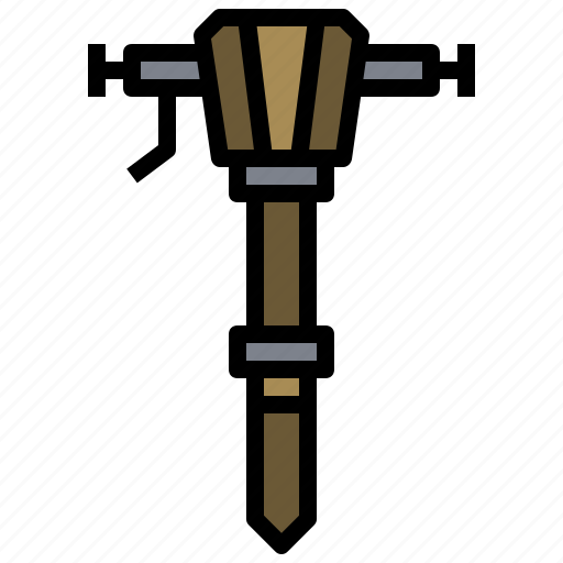 building, construction, jackhammer, repair, repairing, work, working icon