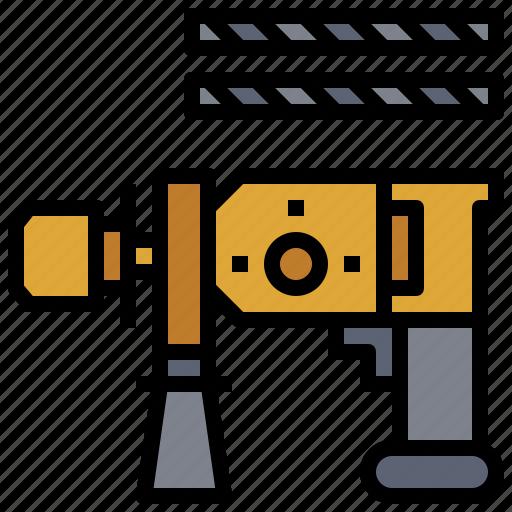 drill, driller, drilling, drills, electric, machine, machines icon
