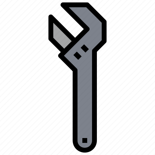 adjustable, garage, improvement, repair, repairing, tool, wrench icon