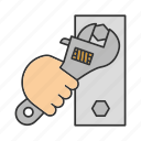 adjustable, bolt, screw, screwer, spanner, tool, wrench icon