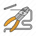 combination, cutting, jaws, pliers, tongs, wire-cutter icon