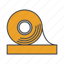adhesive, duct tape, scotch, sticky, tape, tape roll icon
