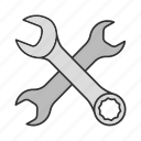 combination, open-end, pipe, screwer, spanner, tool, wrench