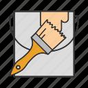 brush, bucket, paint, paint bucket, paintbrush, painting icon