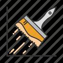 brush, construction, paint, paintbrush, painting, wide brush