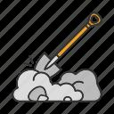 dig, digging, digging spade, garden, shovel, spade icon