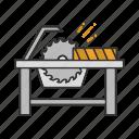 blade, circular saw, corded circular, saw, woodcutting icon