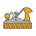 bench, carpentry, chisel, jack, jack plane, plane, woodwork icon