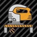 electric, fretsaw, jig, jig saw, jigsaw, machine