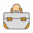 bag, briefcase, repair kit, toolbag, toolkit, toolset icon