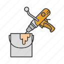 bucket, cement, construction, electric, handtool, mixer, paint