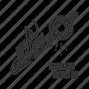 chain saw, chainsaw, circular, electric, gas, petrol, saw icon