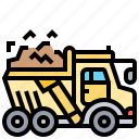 common, dump, mining, tipper, truck icon