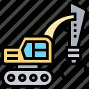 grabber, sugarcane, claw, agriculture, machine icon