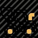 loader, truck, mining, transporter, wheel icon